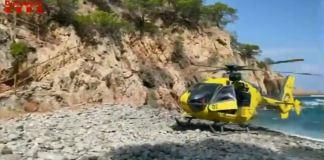 Helicòpter d'Emergències a Cala Pedrosa a Palafrugell