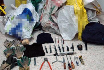 La Guardia Civil ha detenido a tres personas que robaban cableado de cobre perteneciente al tendido eléctrico