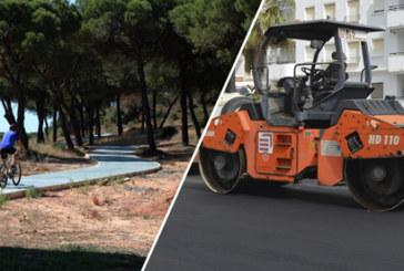 Obras y mejoras de las calles de Cartaya y ampliación del carril bici