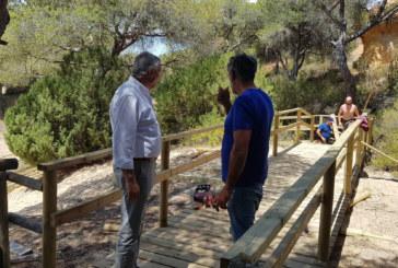 Finalizan las obras de adaptación de las pasarelas en el sendero del Caño de la Culata, en  Nuevo Portil