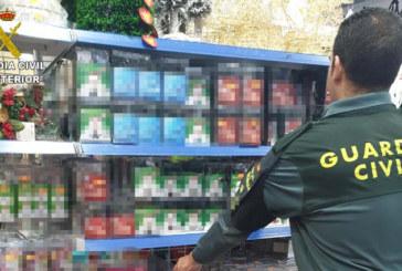 La Guardia Civil inmoviliza una serie de productos no alimenticios que presentan riesgos para la seguridad de las personas