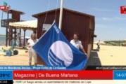 Izada de Bandera Azul en el Caño de la Culata