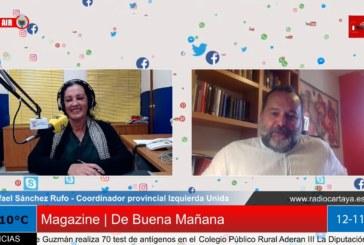 Radio Cartaya | Izquierda Unida Huelva apuesta por los sectores perjudicados por la crisis sanitaria