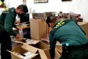 Gibraleón | La Guardia Civil ha intervenido una gran cantidad de cajetillas de tabaco procedentes del contrabando en la localidad