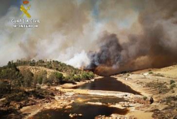 Villarrasa | La Guardia Civil investiga a dos personas por el incendio forestal producido en la localidad