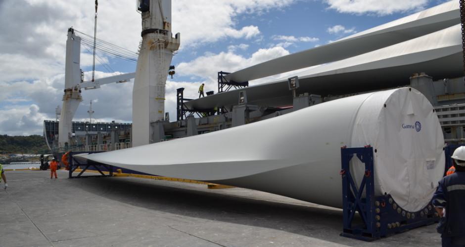 Llegan aerogeneradores de segunda etapa de Parque Eólico San Pedro de Chiloé