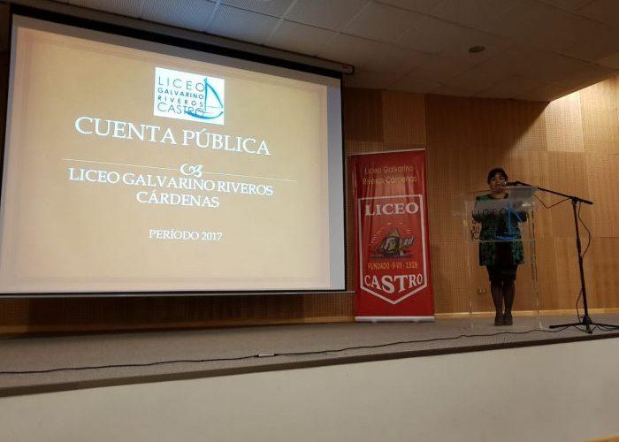 Castro: Liceo Galvarino Riveros entregó cuenta pública periodo 2017.