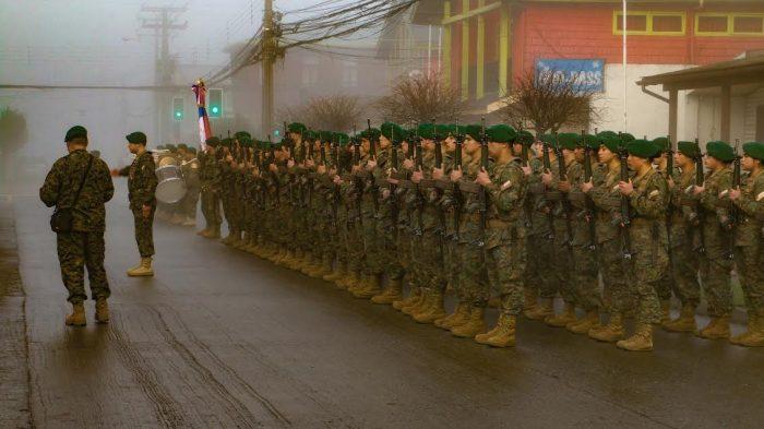 Castro: se realizó ceremonia de juramento a la bandera.