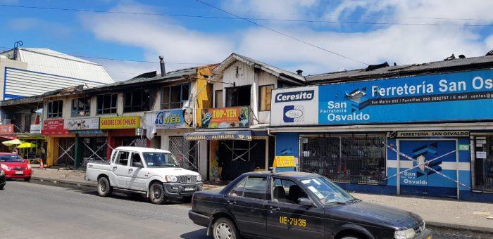 Castro: dantesco incendio se produjo en pleno centro de la ciudad.