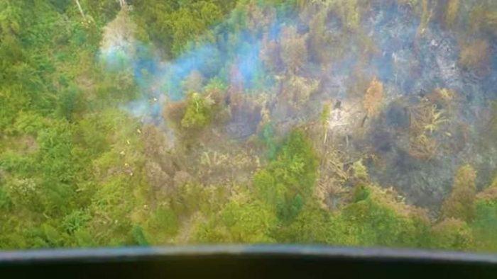 Ancud: incendio forestal continúa afectando gran cantidad de hectáreas.