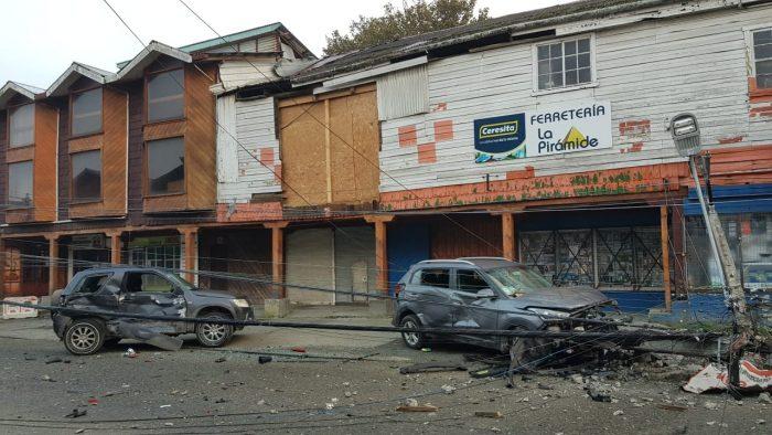 Ancud: accidente de tránsito se registró en pleno centro de la ciudad.