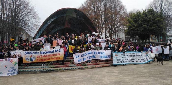Nacional: Funcionarios de jardines infantiles realizan paro de advertencia frente a proyecto de ley