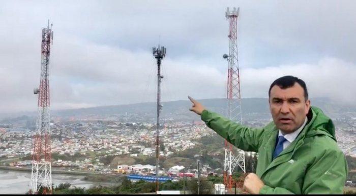Castro: solicitarán retiro de antenas de cerro Ten Ten.