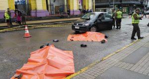 Castro: realizan simulacro para prevenir accidentes de tránsito en Fiestas Patrias.