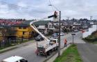 Castro: ejecutan proyecto de cambio de luminarias.