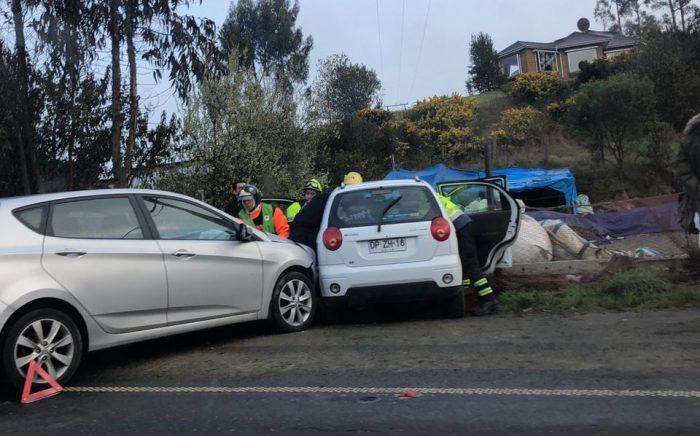 Castro: colisión de dos vehículos menores dejó cuatro lesionados.
