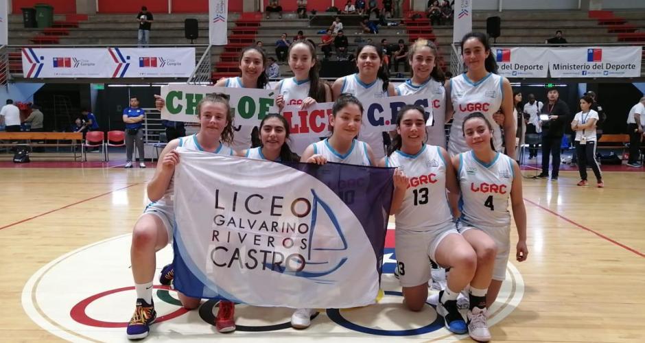 Liceo Galvarino Riveros logra bicampeonato de básquetbol