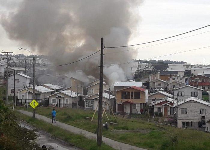Quellón: una serie de emergencias se registraron durante el último fin de semana.