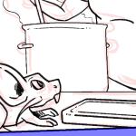Rattata in the kitchen
