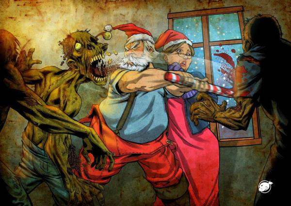 Santa vs Zombies by Victor Negreiro