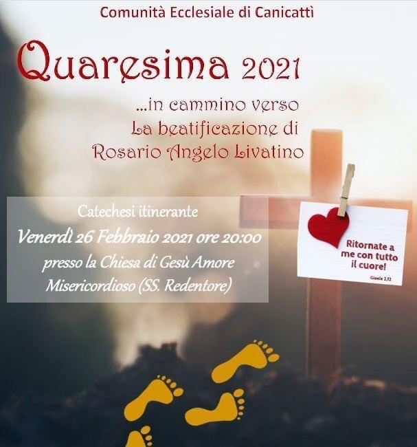 Quaresima 2021 , in cammino verso la Beatificazione di Rosario Angelo Livatino