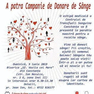 Donare de sange parohia Sf Vasile