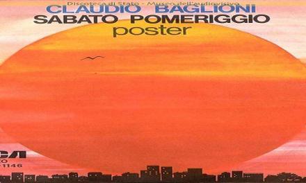 """Il brano """"Sabato pomeriggio"""" di Claudio Baglioni #1 della hitchart nel settembre 1975."""