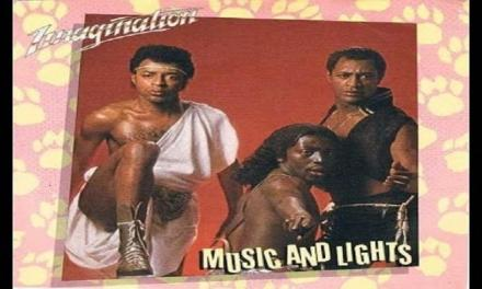 """Il brano """"Music and Lights"""" degli Imagination #1 delle hitchart di ottobre 1982."""
