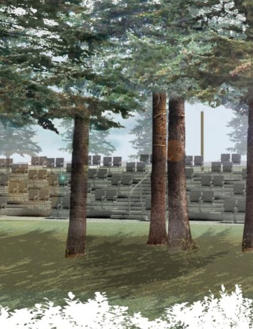 Architectural sketches of the Spruce Theatre; contributed photo.