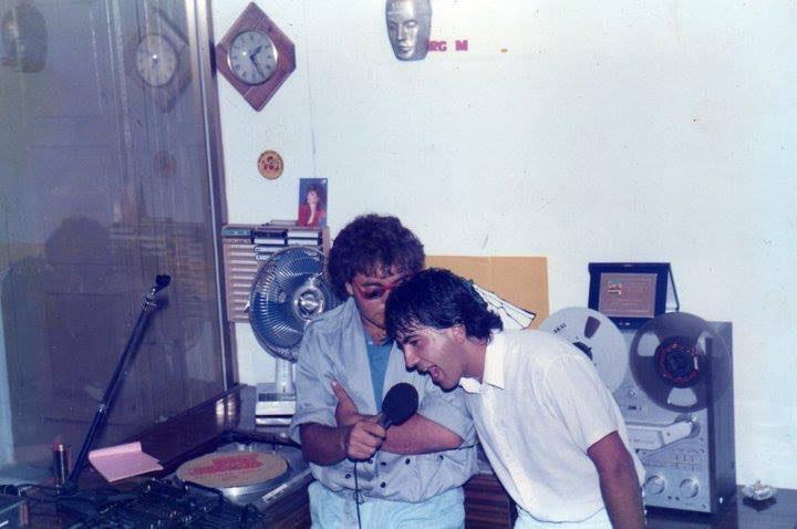 Storia di Radio Gioiosa Marina, anno 1982, foto con Alessandro Staltari e Guido Bonavita