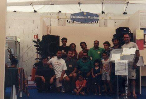 Storia di Radio Gioiosa Marina, anno 1990. Foto al palazzetto dello sport di Marina di Gioiosa Ionica