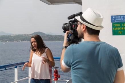 Foto del backstage della registrazione del singolo Senza confine di Ilenia Mazzà per le rgm news di Radio Gioiosa Marina