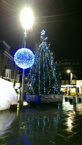 harrow town centre christmas lights christmas tree