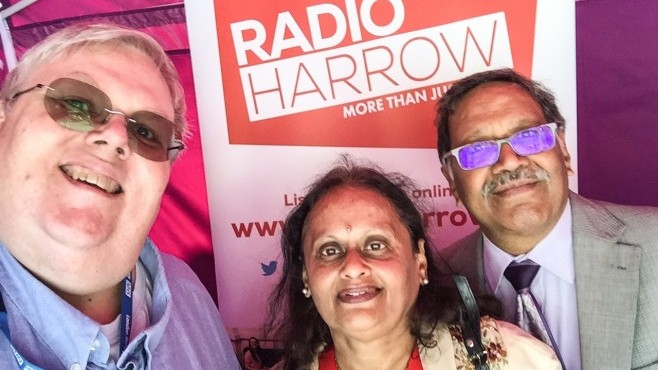 Rekha Shah, Deputy Mayor of Harrow visited Radio Harrow's stall