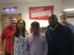 Yathushan and his tutors. From left: Keith, Jenna, Yathushan, Wayne (youth worker) and Steve