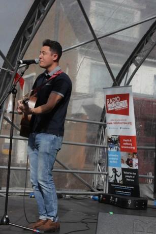 Tom Livingstone at the Harrow Town Summer Festival