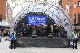 Harrow Town Centre Christmas Lights - Choir