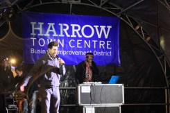 Harrow Town Centre Christmas Lights - Matt Blank and Sir Skanksalot
