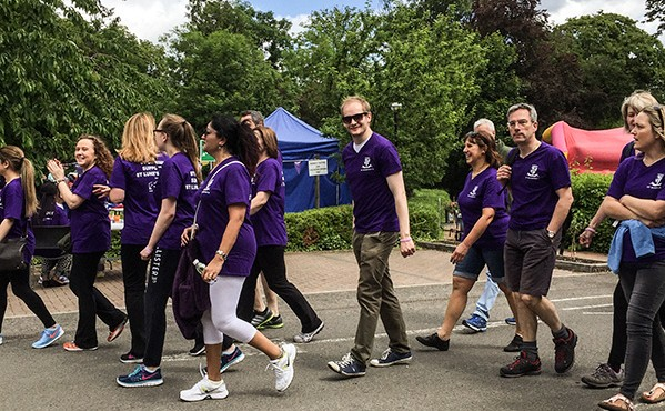 St Dominic's College staff raised more than £500 for their 5km Charity Walk