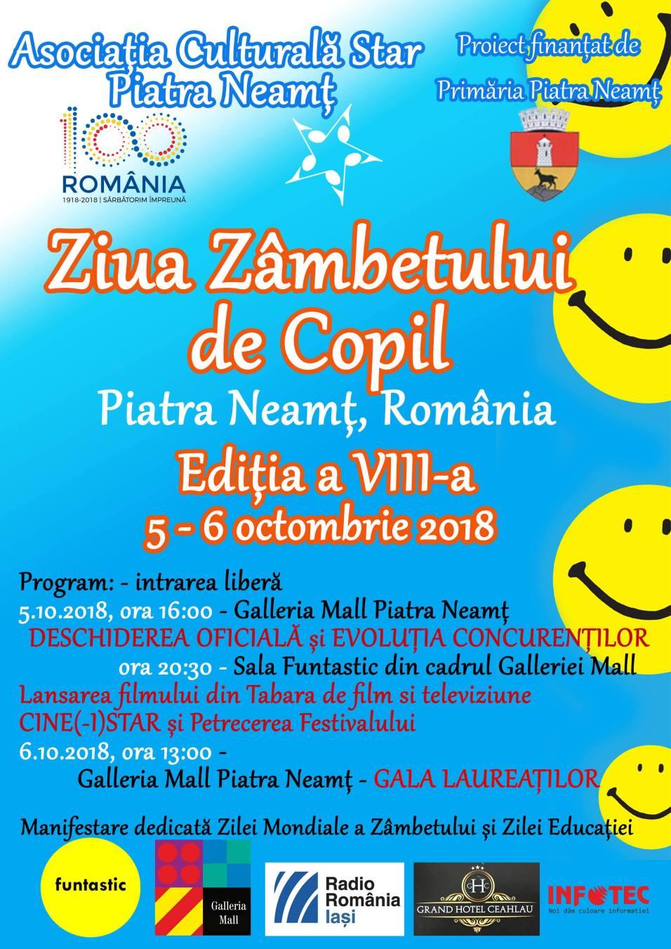 AFIS ZIUA ZAMBETULUI DE COPIL