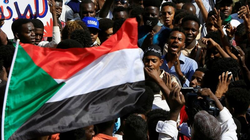 "Sudan anti Normalization Protests: ""We are Standing with  Palestine"""