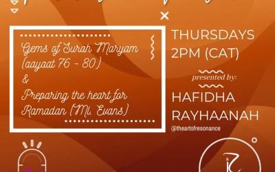 Revival in motion: Gems of Surah Maryam