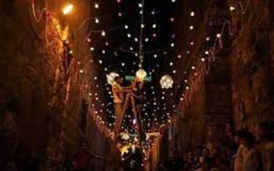 Ramadan Decorations Up In Jerusalem As Palestinians Prepare For Ramadan