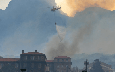 Table Mountain fire rages