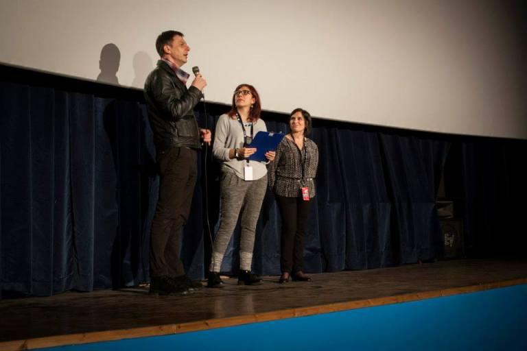 Boris sul palco di Magma in compagnia di Giulia Iannello e Licia Arcidiacono