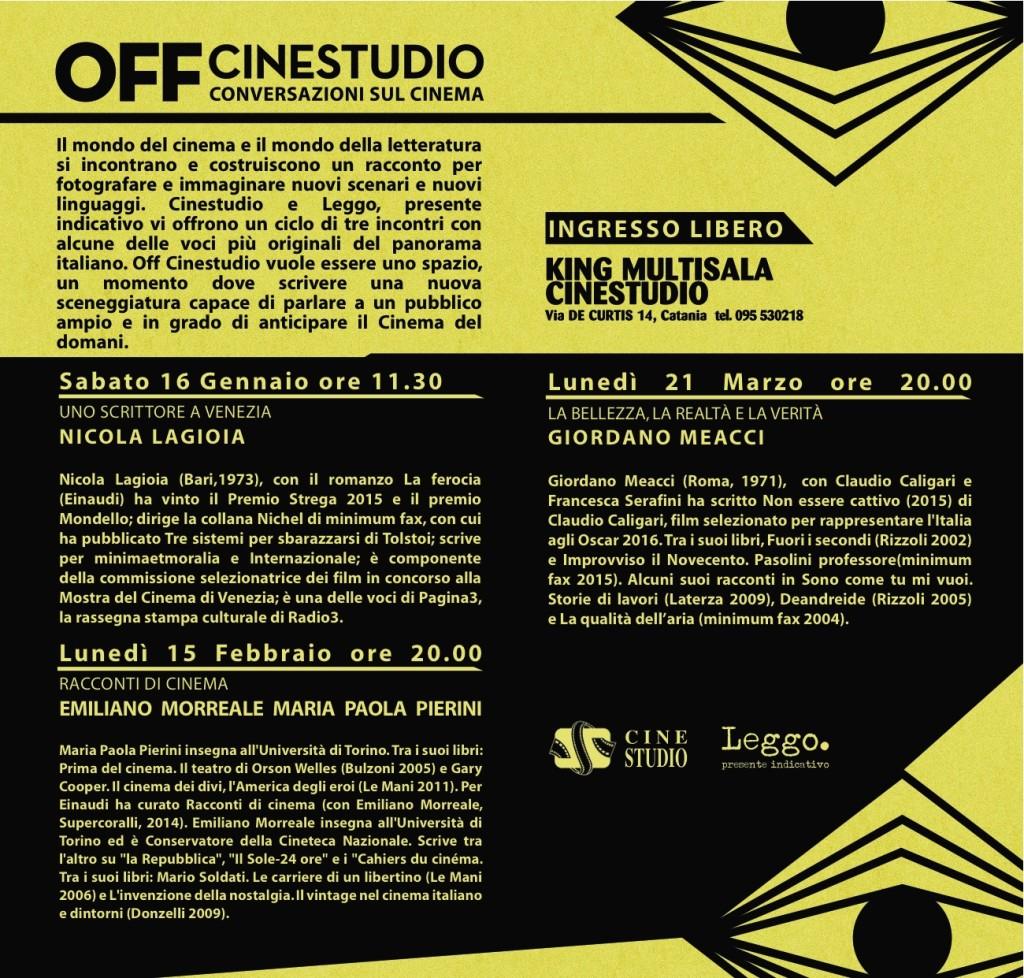 Cienstudio OFF programma