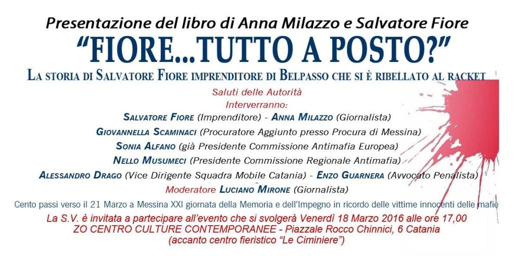 Fiore tutto a posto - presentazione ZO Catania