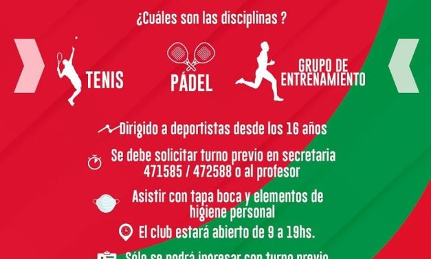 Habilitaron disciplinas deportivas en Sportivo