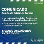 Caso Positivo Covid-19 en Las Parejas con residencia en Rosario