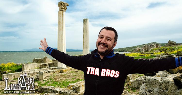 """Salvini a Tharros: """"Da quando ci sono io azzerati gli sbarchi fenicio-punici"""""""